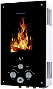 Газовая колонка Edisson F 20 GD Flame (костер)