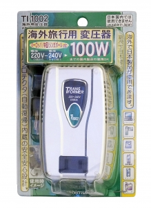 Понижающий трансформатор Kashimura TI-1002, 220–100 В, 100 Вт