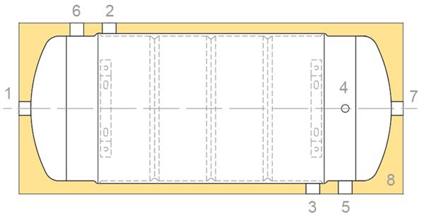 Конструкция косвенного водонагревателя TML BIT