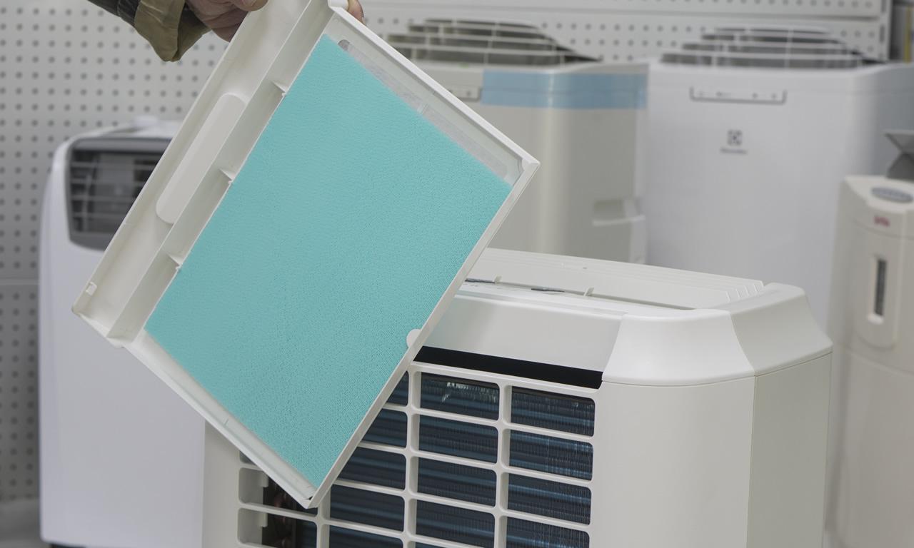 Мобильный кондиционер Electrolux EACM снятый HAF фильтр