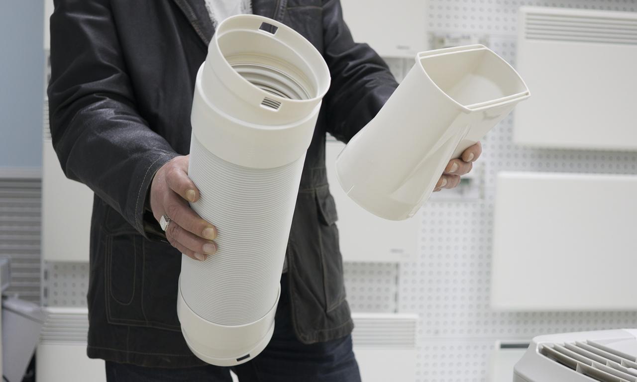 Мобильный кондиционер Electrolux EACM сборка воздуховода