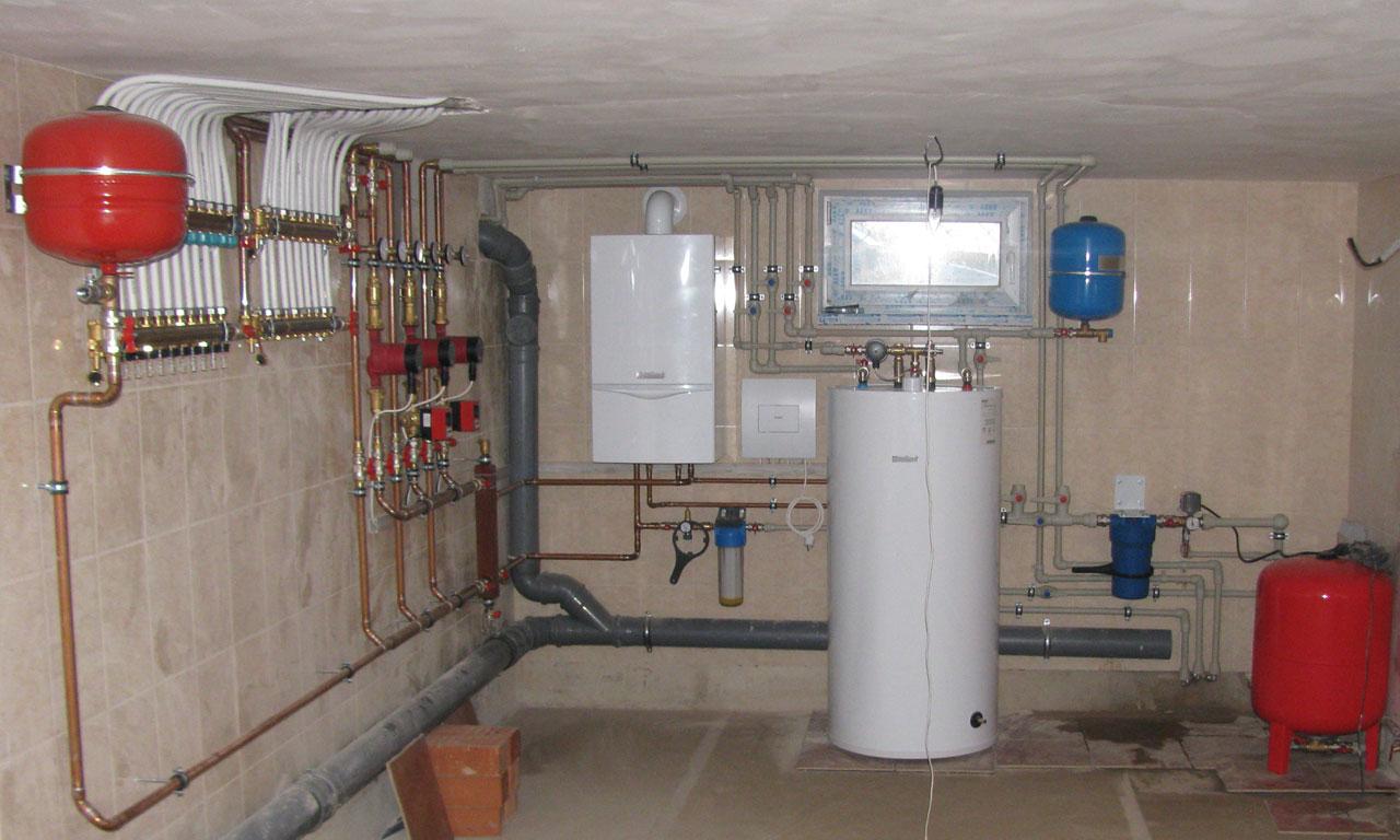 Подключение газового котла к системе отопления и водоснабжения