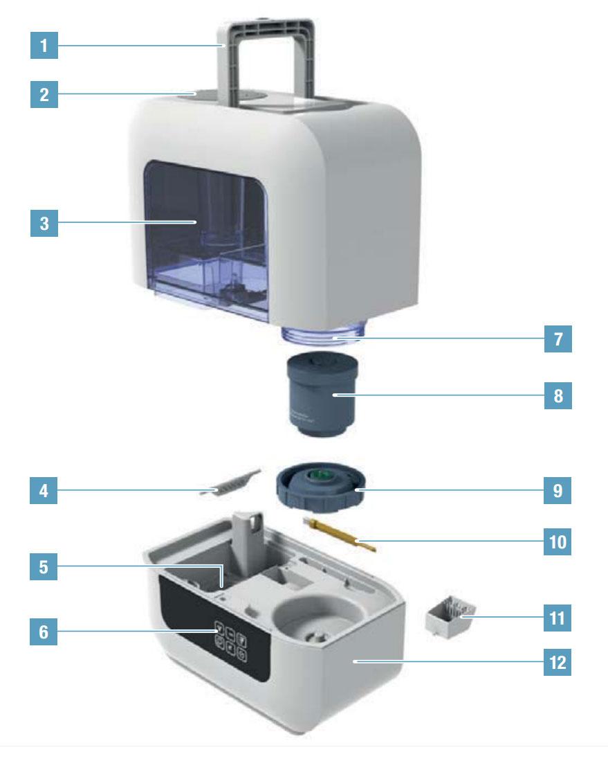 Устройство увлажнителя воздуха Boneco U700